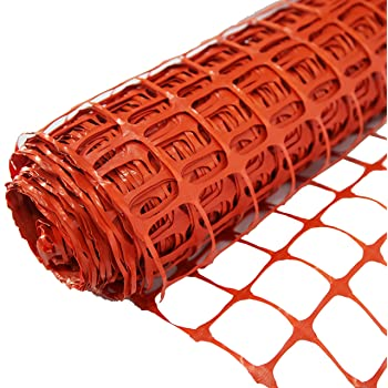 Sorara Kunststoffnetz Zaun Barriere Orange 30 M 3000 Cm Lang 1