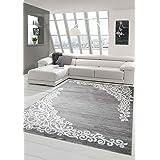 Hedendaagse tapijt designer tapijt Oosters tapijt met glitter garen woonkamer tapijt met bloemenpatroon gemêleerd in grijs cr