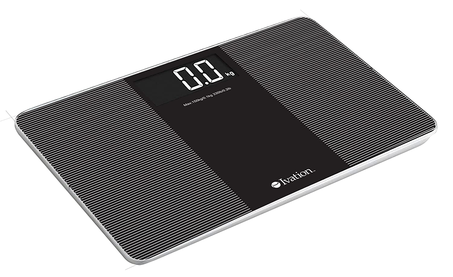 Ivation! Premium Compact Glass Electronic Bathroom Scale