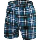 Sesto Senso Mens PJ Bottom Pyjama Shorts Checked Cotton 1 or 2 Pack Sleepwear Nightwear
