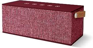 Fresh N Rebel Rockbox Brick Xl Fabriq Edition Ruby Kabelloser Bluetooth Lautsprecher Audio Hifi