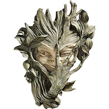 Design Toscano Bashful Wood Sprite Tree Face Mystic Decor Wall Sculpture, 33 cm, Polyresin, Two Tone Stone