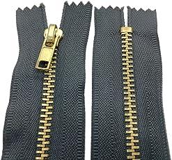 10 - 25 cm Metall Reißverschluss 4 mm Zipper nicht teilbar für Jeans Leder Taschen Geldbörse Hose