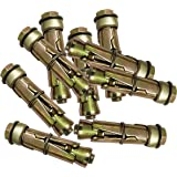 Pure Source India Anchor Fasteners,Size 6 mm, Pack of 12 PCS (Gold)