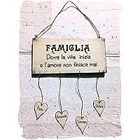 Targa FAMIGLIA in legno personalizzata con nomi - Idea regalo personalizzato