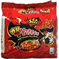 Samyang Buldak Koreaanse hete dubbel gekruide Chicken Fried Noodles ramen, (5x 140g)