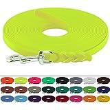 BioThane Schleppleine für Hunde 15-25kg, 13 mm breit, ohne Handschlaufe, bis zu 30 Meter Länge, geflochten, in vielen Farben