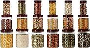 Amazon Brand - Solimo Checkered Jar Set of 18