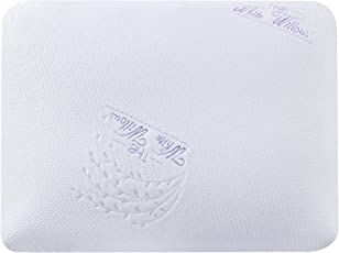 The White Willow Standard Air Sense Memory Foam Ventilated Pillow with Holes and Washable Outer Cover with a Zip, 22x16x5-inch(White, Multicolour)
