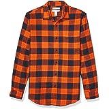 Amazon Essentials - Camicia in flanella a maniche lunghe, a quadri, da uomo, Slim Fit