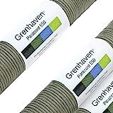 Grenhaven Paracord touw olijf groen parachutekoord universeel inzetbaar survival touw met 7 strengen 30m 550lbs 100ft van sch