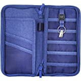 EVIZO Passport Holder, Travel Wallet Case Cover Water-Resistant Organizer Bag to Carry Multiple Passports, Money, Credit & Debit Cards, Cheque Book Storage for Men, Women and Family (Color May Vary)