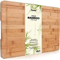 Tagliere in Bamb ugrave  Biologico Premium by Harcas  Tagliere dalle misure Extra Large 45cm x 30cm x 2cm  Il Migliore per Tagliare Carne  Verdure e Formaggio  Livello Professionale per Resistenza e Durata