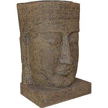 wasserlauf steinguss buddha kopf angkor watt brunnen f r haus und garten zimmer brunnen. Black Bedroom Furniture Sets. Home Design Ideas