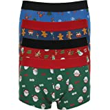 Mens 1 Coppia Natale Hipster Boxer Pantaloncini Novità Regalo Di Natale