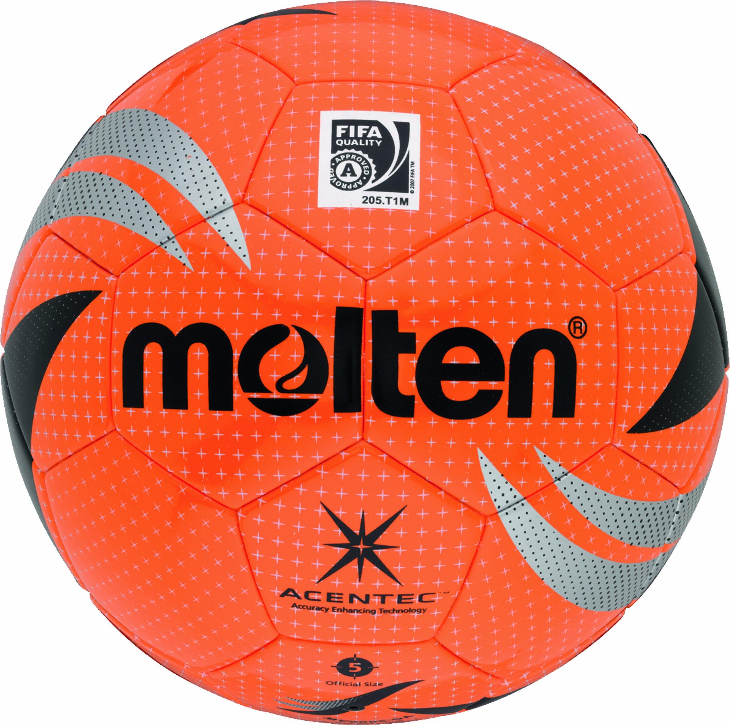 Molten VG-5000AW - Pallone da calcio, colore: Arancione/Argento/Nero