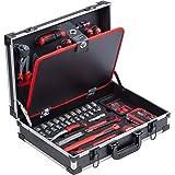 Meister Verktygslåda 109 delar – robust aluminiumväska – verktygssats – för hushåll, garage och verkstad/professionell verkty
