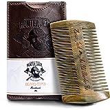 Beard Comb Kit for Men - Great for Head Hair, Beard Grooming & Mustache - Handmade Premium Wood - Fine Dual Action Teeth - Be