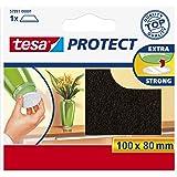 Tesa Protect viltglijder, rechthoekig, 100 mm: 80 mm, bruin, 1 stuk
