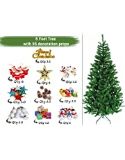 TIED RIBBONS Christmas Xmas Tree for Home Office Decoration (6 Feet) with 95 Ornaments Tree Decoration Props - Xmas Tree