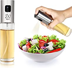 West7 Stainless Steel Easy & Mess Free Oil Sprayer, 100ml