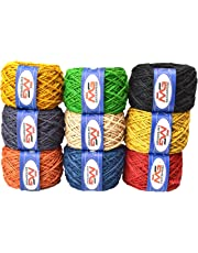 M.G ENTERPRISE Jute Combo Colour Exclusive Twine Ball Threads String Rope 3 Ply for Creative Decoration by M.G Enterprise