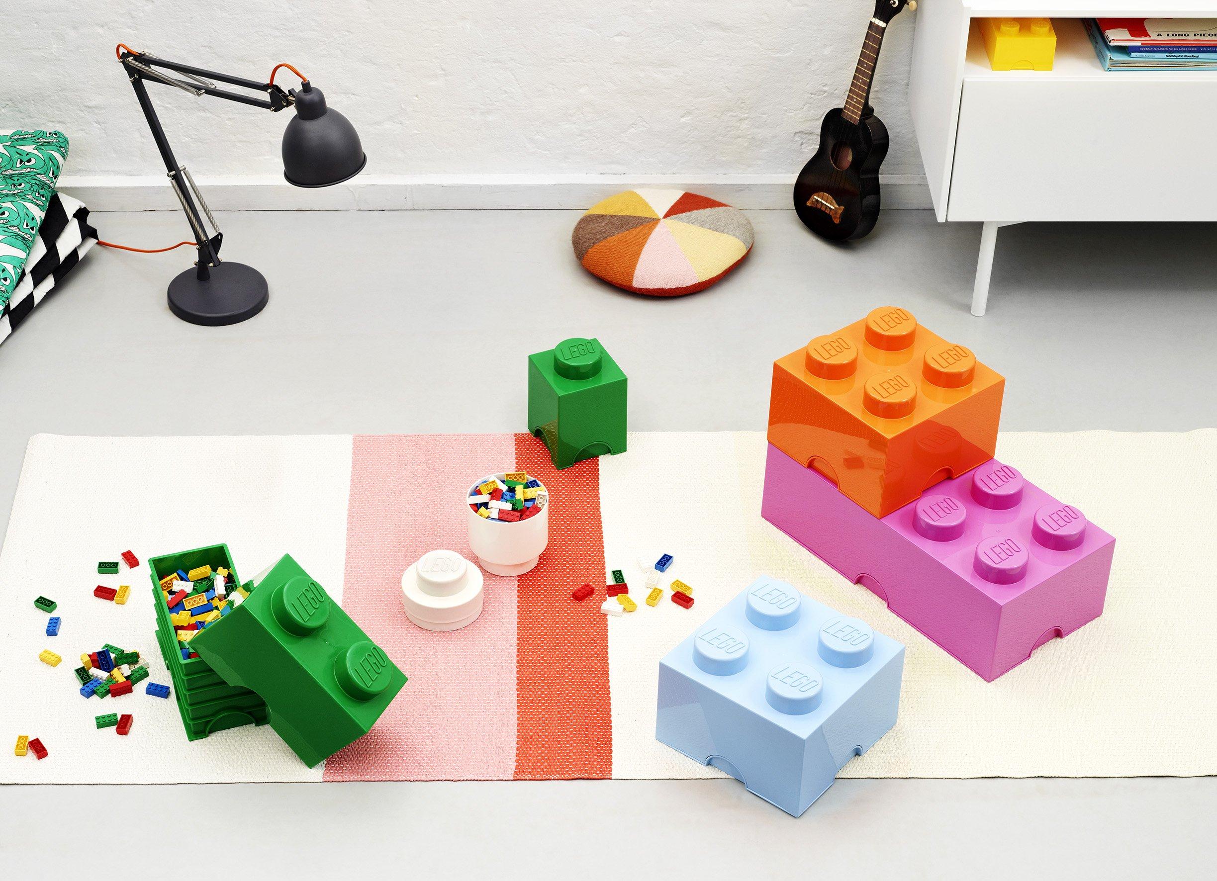 LEGO - Scatola stoccaggio, Arancione, & Room Copenhagen Classic Mattoncino Bottoncini,Contenitore impilabile Litri… 3 spesavip