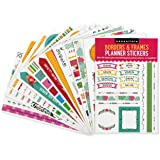 Essentials Borders & Frames Planner Stickers