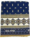 Cotonine Single Size Solapur Chaddar, Denim Blue