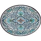 "Certified International Talavera Melamine 18"" x 13.5"" Oval Platter, Multicolor"