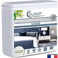 Sleeep Protège Matelas imperméable Alèse 140 x 190 Format Drap Housse de lit Hypoallergénique Anti-Acarien Ecologique…