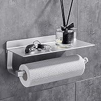 GERUIKE Porte-Papier de Cuisine Supports pour Papier Porte-Rouleau en Aluminium avec Auto-adhésif pour Papier Toilette…