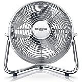 Brandson Windmachine, retrostijl, ventilator in koper-design, staande ventilator, 32 watt, tafelventilator, staande ventilato