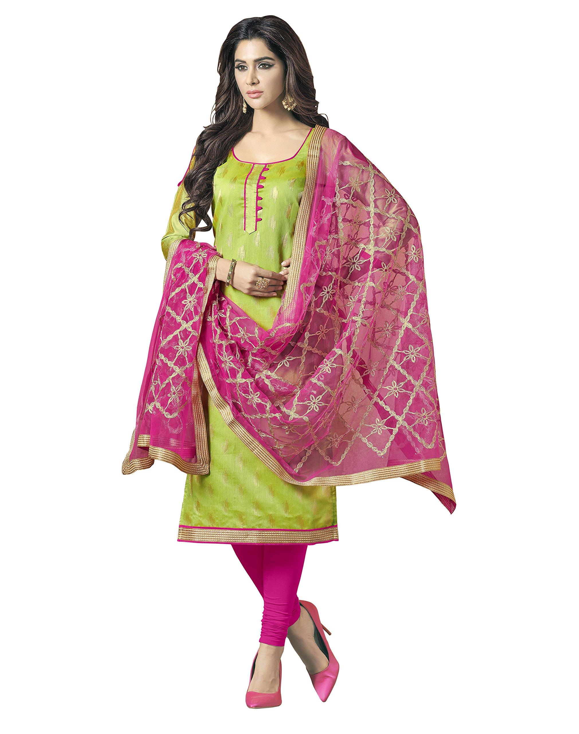 da7f1fc77f99eb Viva N Diva Un-Stitched Banarasi Cotton Jacquard Dress Material Dupatta For  Women s Punjabi Salwar