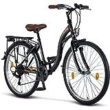 Licorne Bike Stella Premium City Bike in 24,26 und 28 Zoll - Fahrrad für Mädchen, Jungen, Herren und Damen - Shimano 21…