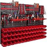 Étagère murale 1152 x 780 mm avec supports à outils, boîtes empilables, caisses de rangement, étagère de rangement murales ex