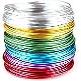 Goodwei, Creacraft, aluminium sieradendraad, set basic, 6 kleuren, 30 m x 5 m per kleur 2 mm verschillende