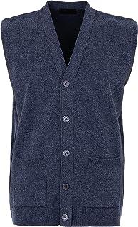 Great /& British Knitwear Mens HK900 100/% Lambswool V Neck Waistcoat Made in Scotland