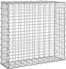 [pro.tec] 1x Gabione (100 x 100 x 30 cm) Steingabione / Steinmauer / Steinwand / Spalier /