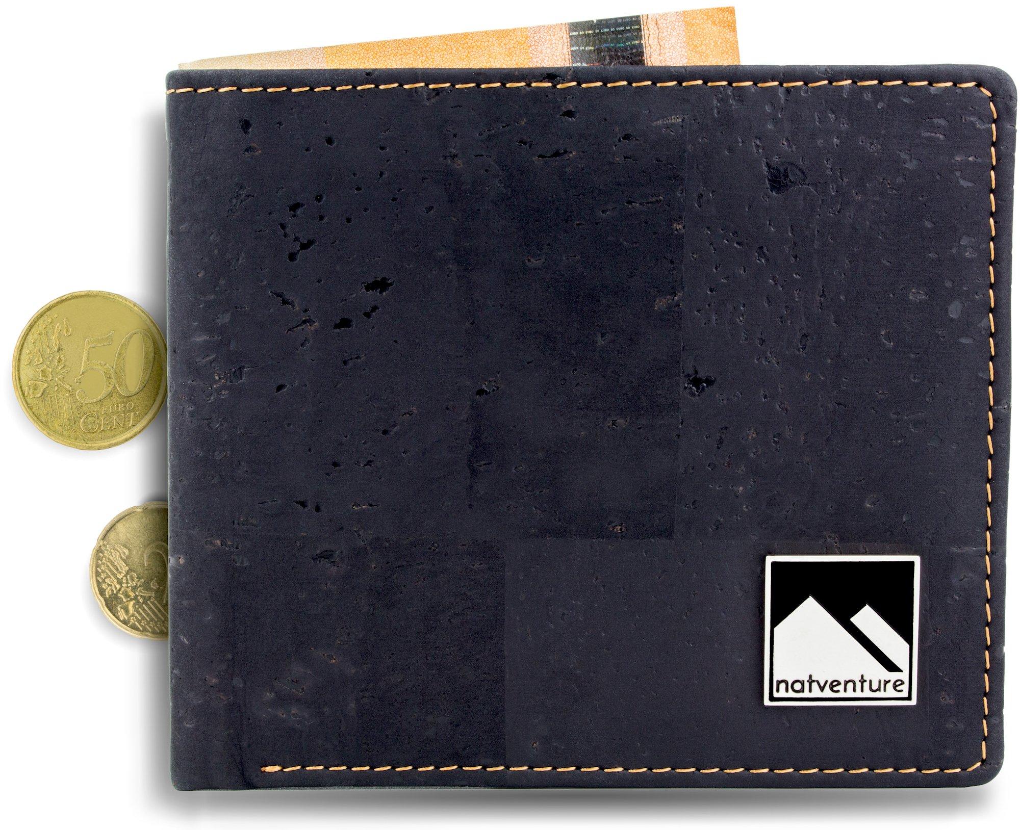 43df51230842e natventure® Geldbeutel aus Korkleder mit RFID Schutz
