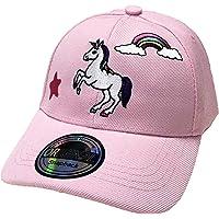 Berretto da baseball con unicorno, per bambini, unisex, taglia regolabile, rosa