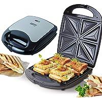 4er Sandwichmaker | 1500 Watt | Sandwich Maker | Edelstahl Sandwichtoaster | Waffeleisen | Paninitoaster | Elektrogrill…