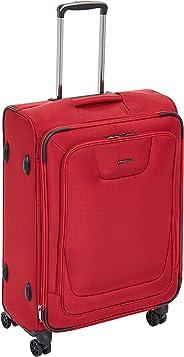 AmazonBasics - Premium-Weichschalen-Trolley mit TSA-Schloss, erweiterbar, 64 cm, Rot
