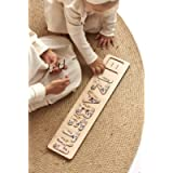 Baby Name Puzzle with Flowers Floral Design Wooden Montessori Toys for Toddlers Newborn Gift Baby Shower gift for Girl…