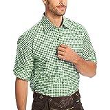 Gesteiner Leather Camisas de traje regional para hombre, camisas para traje regional, camisa de manga larga, corte regular, d