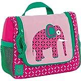 Casual Mini Washbag sac cosmétique Waschbeuteul pour accrocher, bagages enfants, faune éléphant cas de vanité, 20 cm, Rose