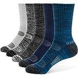 Belakapa Men's Sports Socks(Pack of 5),Walking Socks Cushioned Crew Athletic socks Moisture Wicking Breathable Comfortable Ca