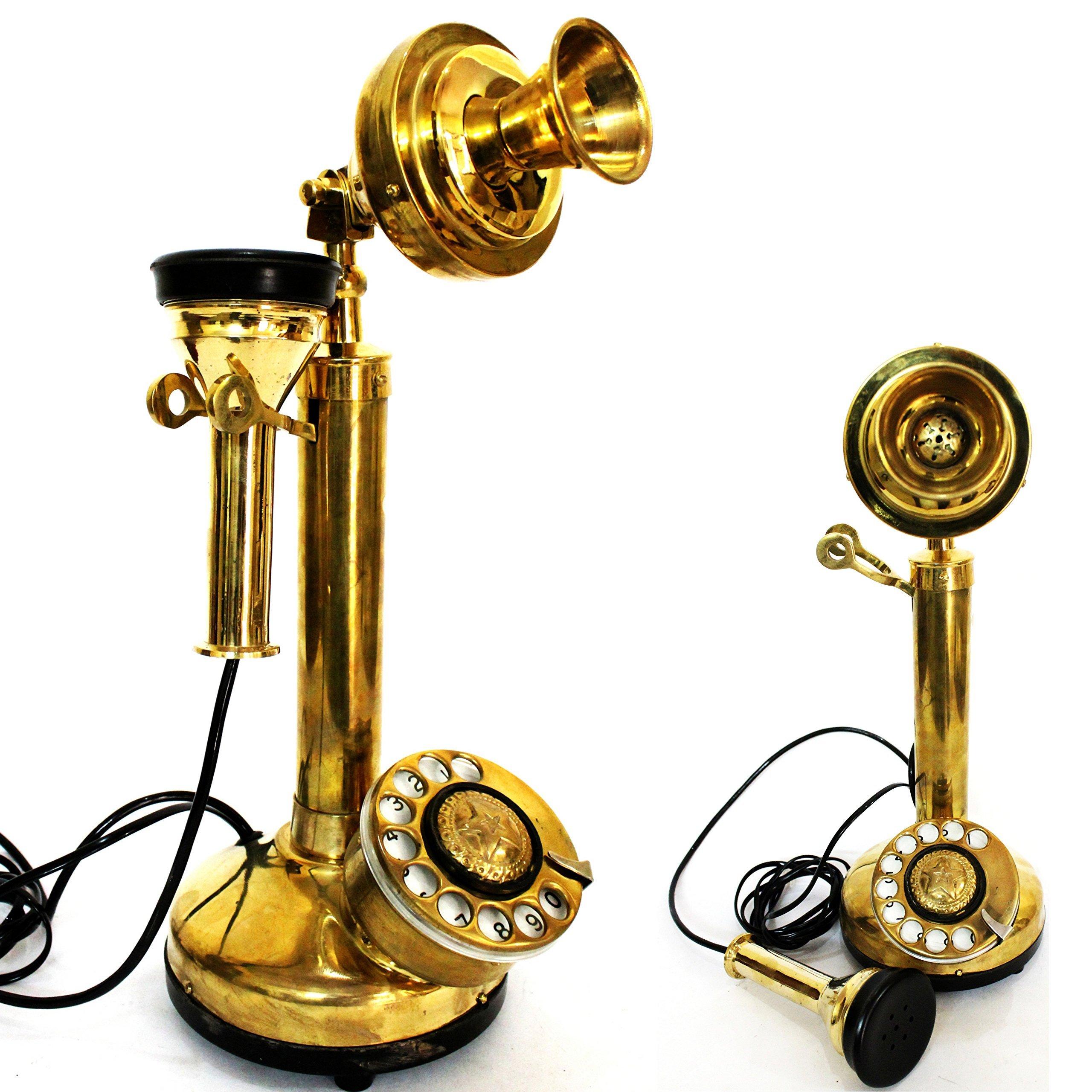 collezionismo Buy ottone lucido Mid Century telefono ottone lucido