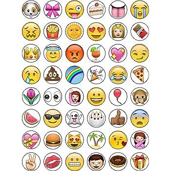 AKGifts Essbare Cupcake-//Kuchen-Aufs/ätze zur Dekoration Motiv Emoji mit Herz-Augen 12/St/ück
