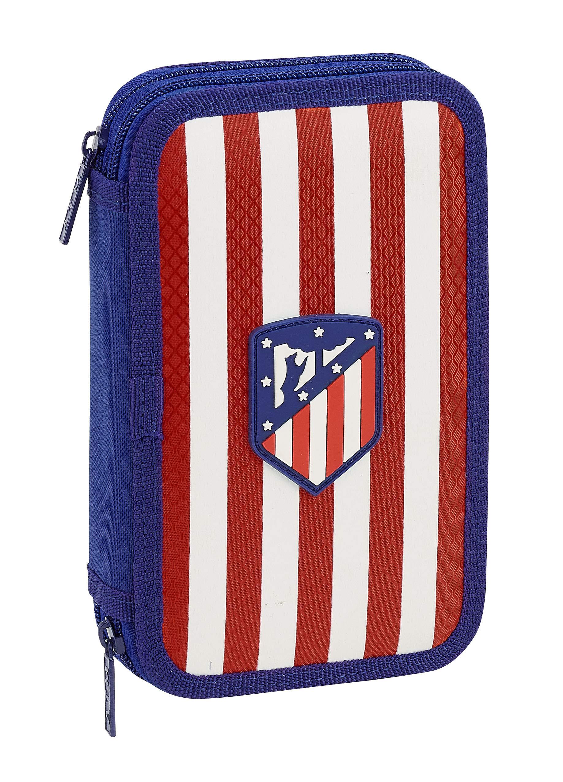 Atletico De Madrid 411845854 Estuche Con 28 Piezas, Unica